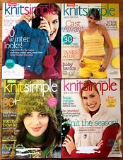 Lot of 4 - KNIT SIMPLE MAGAZINE - Winter 06/7, Spring/Summer, Fall, Holiday 2007