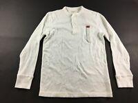 Merona New Mens White Long Sleeve Shirt Size Medium