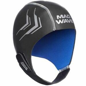 Mad Wave Neoprene Helmet Open Water Swimming Triathlon Thermal Swim Cap