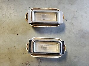 Pair Front Marker Lights 1969 Buick Electra 225 Wildcat Lesabre Fender Lamps