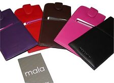 Mala Leather wide Glasses Sleeve Tab Case Specs Reading - 5 Colours soft nappa