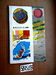 WILD BOYS n.8 con copertina adesiva ANNO I  26.08-1986 Cucador  (5BIS1B)