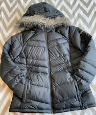 Columbia Womens Down Jacket Faux Fur Hood Size XL