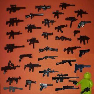 12x Custom Guns Random Weapons Mix for Lego® MiniFigs. Tact Assault Sniper etc