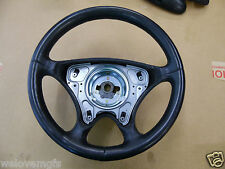 MERCEDES SLK 200 230 320 R170 DRIVERS BLACK LEATHER STEERING WHEEL 2000