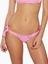 Frankie's Bikinis St Tropez Pataya Pink Macrame Tiny Bikini Bottoms   L