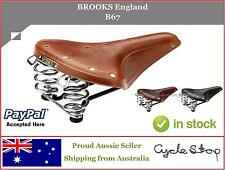 BIKE SEAT SPRUNG - BROOKS ENGLAND - B67 LEATHER SADDLE RETRO OLD SCHOOL STYLE