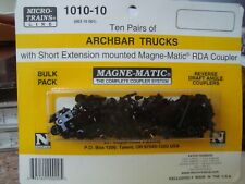 N Scale Micro-Trains Line Archbar trucks with short ext 10 pack NEW!!