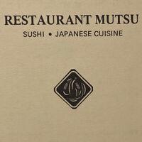 Vintage Restaurant Mutsu Menu Sushi Japanese Cuisine Balwin Avenue San Mateo CA