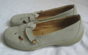 """Grey leather 1"""" wedge shoes HOTTER COMFORT CONCEPT UK 8"""