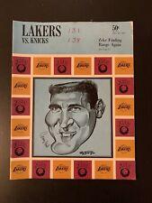 Los Angeles Lakers vs New York Knicks Program Dec 20 1967