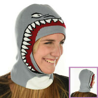 Balaclava Beanie Hat Hood Knitted Hunting Skiing Fishing Shark Monster Face Mask