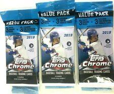 2x 2019 Topps Chrome Baseball Value Pack 3 Packs 4 MLB Cards & Bonus PK