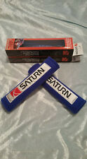 FITS SATURN SEAT BELT SHOULDER PADS COVER BLUE PAIR ION SC2 VUE COUPE IN STOCK