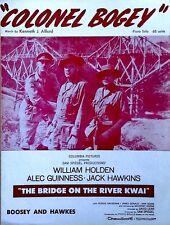COLONEL BOGEY - WILLIAM HOLDEN, ALEC GUINNESS, JACK HAWKINS - SHEET MUSIC