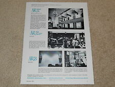 Acoustic Research Speaker Ad, AR-2x,AR-2ax, AR-3, 1 page, 1966, Articles, Info