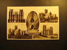 Wells Cathedral, (5 views) about 1910, real photo, Valentine & Sons, unused
