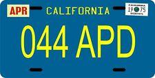 Columbo Peter Falk Peugeot CA 1975 metal License plate