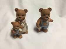 HomeCo Teddy Bear Figurines ~ Lot Of Two 1450 - Cute! A902