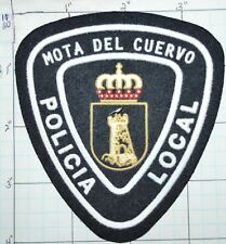 SPAIN, MOTA DEL CUERVO POLICIA LOCAL POLICE DEPT CUENCA CASTILE-LA MANCHA PATCH