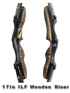 """17"""" ILF Riser Wooden Takedown Recurve Bow Handle Laminated for 66"""" & 68"""" Limbs"""