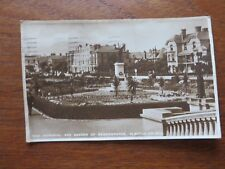Postcard  War Memorial and Garden of Remembrance Clacton on sea, Essex 1931