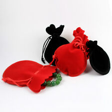 12Pcs Gourd Velvet Drawstring Jewelry Gifts Candy Bags Pouches Festivel Wedding