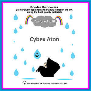 """RAINCOVER by Koodee designed to fit """"Cybex Aton"""" Car Seat Made in the UK BNIP"""