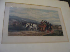 Vintage 1890 Framed Print: painted by W J SHAYER etched by A H PHILLIPS -UP HILL