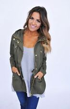 NWT Army Olive Green Cargo Military Utility Hooded Anorak Jacket M nordstrom h&m