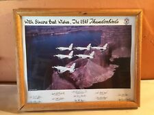 USAF Thunderbirds 1993,Lake Powell Aerial Photo,with autographs 14 1/4 X 11 1/4