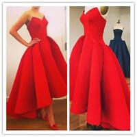 Vintage Women Red Party Prom Wedding Bridesmaid Gown Dovetail Skirt Formal Dress