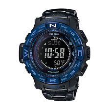 Casio Pro Trek PRW-3500SYT-1D Triple Sensor Solar Black Titanium Sport Watch