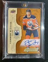 2018/19 Upper Deck Engrained Connor McDavid SSP Auto Base #1 1:63 ( Very Rare )