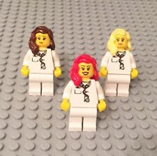 Lego X3 New EMT Doctor / Female Nurse With Different Hair Colors And Faces Lot