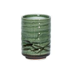 MIYA Japanese Green Sasa Tea Cup, 8 oz, Traditional Style No Handle Special Gift