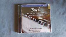 SCHIFF - BACH - DOPPI E TRIPLI CONCERTI PER PIANOFORTE E ORCHESTRA - DOPPIO 2 CD