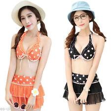 Maillots de bain bikini noir pour fille de 2 à 16 ans