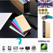 UK STOCK 50000mah Power Bank Dual USB LED Battery Charger LCD For Samsung iPhone
