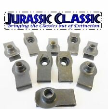 1946-1980 Chevy AMC 10pk 3/8-16 Extruded Fender U-Nuts Clips Hood Body Trunk