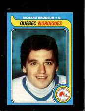 1979-80 TOPPS #176 RICHARD BRODEUR NM NORDIQUES  *X5121