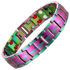 RainBow Magnetic Bracelet Lightweight Titanium + Germanium, Fir, Anion Energy