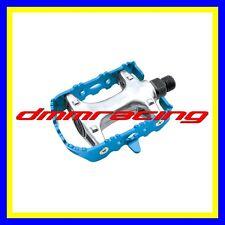 Coppia Pedali Bici Universali Alluminio Blu MTB Bicicletta strada BMX trekking
