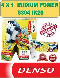 4x1 Denso IK20 5304 Iridium Spark Plug for Toyota Honda Nissan Mazda Chevy Volvo