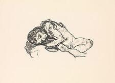Egon Schiele Lithograph Reproduction: Girl - Fine Art Print