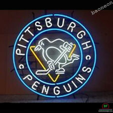 Pittsburgh Penguins BEER BAR LIGHT REAL GLASS NEON SIGN FREE SHIPPING