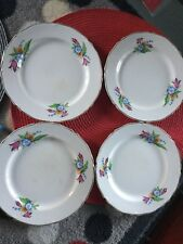 "4 MIDWINTER  SPRING BOUQUET Teaplates SIDEPLATES  7"" 1940's STAFFORDSHIRE USED"