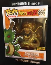 Funko Pop Gold Shenron Dragon Ball Z Super Hot Topic Exclusive - Ships from NJ