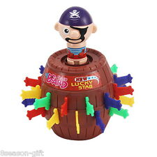 Kids Children Pop Up Toy Funny Lucky Stab Gadget Pirate Barrel Boardd Game Gift