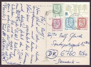 d8234/ Finland Card Cover t/Denmark 1988 w/Booklet Issue